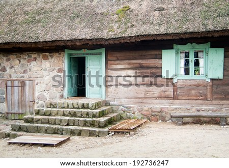 Traditional polish wooden home.