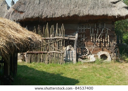 Wooden cottage stock images royalty free images vectors shutterstock - Traditional polish houses wood mastership ...