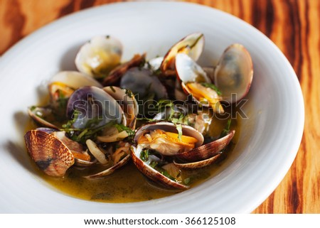 traditional Portuguese dish with clams
