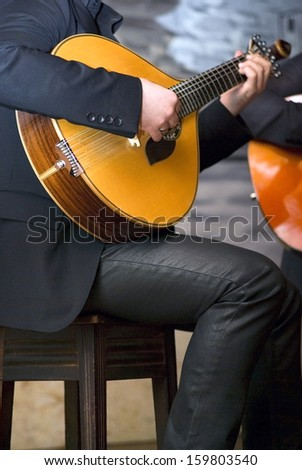 Traditional portuguese guitar  - stock photo