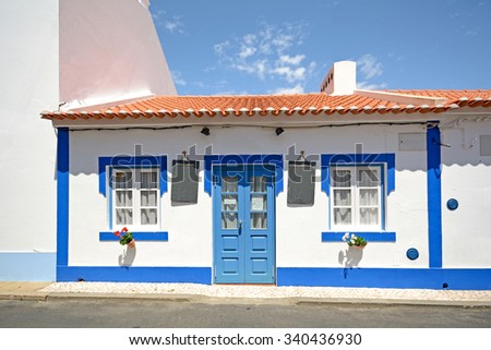Traditional portuguese house in a small village, Portugal Europe - stock photo