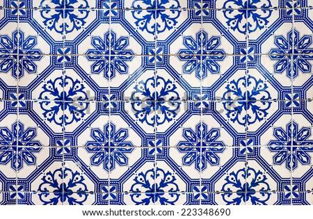 Traditional portuguese tiles - stock photo