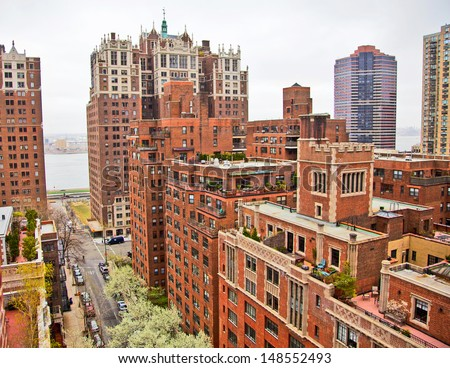 Traditional Red Brick Apartments Manhattan New Stock Photo (Royalty ...