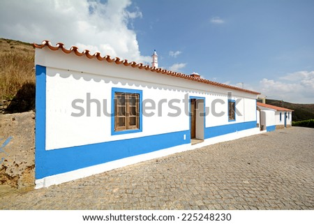 Traditional residential building at Algarve Portugal - stock photo