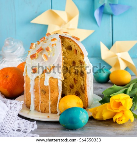 Traditional Russian Easter Food Stock Images Royalty Free