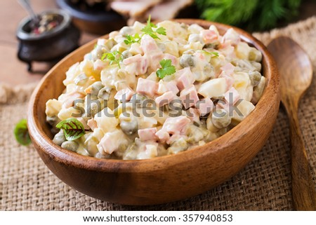 "Traditional Russian salad ""Olivier"""