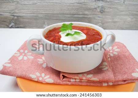 Traditional Russian vegetarian soup