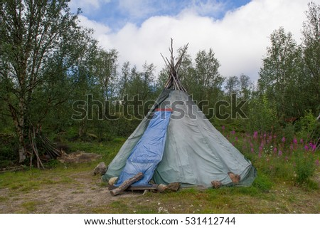 traditional sami tent & Traditional Sami Tent Stock Photo 531412753 - Shutterstock
