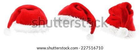 Traditional Santa hat - stock photo