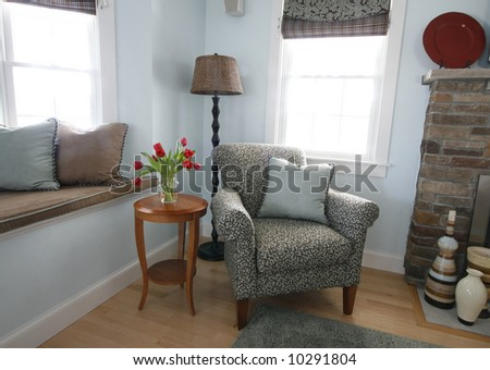 traditional sitting area in home - stock photo