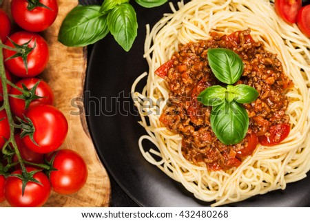 Traditional spaghetti bolognese - stock photo