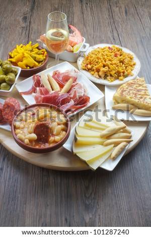 traditional spanish tapas - stock photo