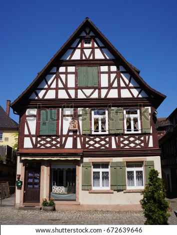 Traditional Style German House Village Haslach Stock Photo