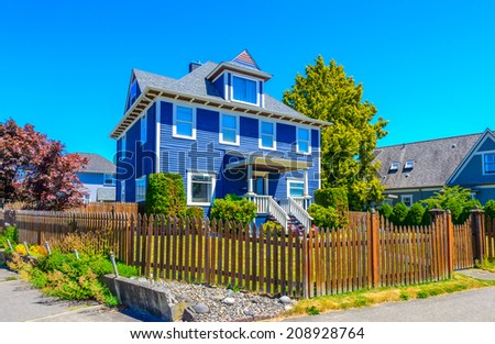 Traditional american house stock images royalty free for Traditional american house styles