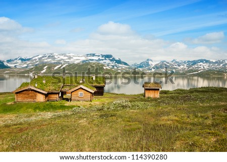 traditional summer houses in Norway