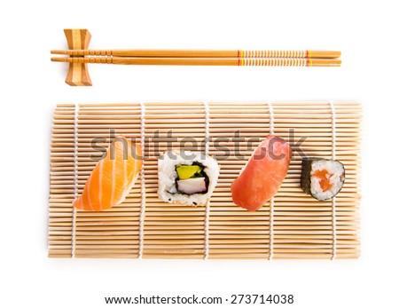 Traditional sushi food - stock photo