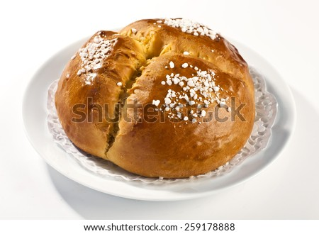 Traditional sweet bread easter cristmas - stock photo