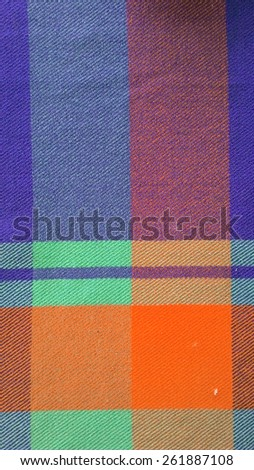 traditional Thai fabric texture - stock photo