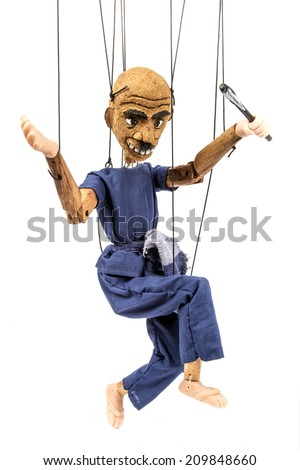 Traditional Thai String Puppet - stock photo