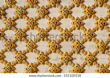 Traditional Thai stucco pattern decorative in temple, Thailand - stock photo