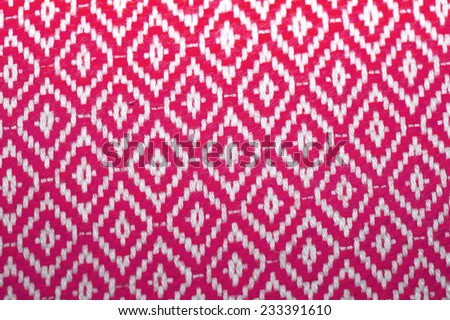 Traditional Thai style art of pattern on fabric - stock photo