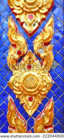 Traditional Thai style molding art background - stock photo