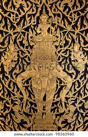 Traditional Thai style painting - stock photo