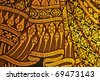 traditional thai style painting art - stock photo