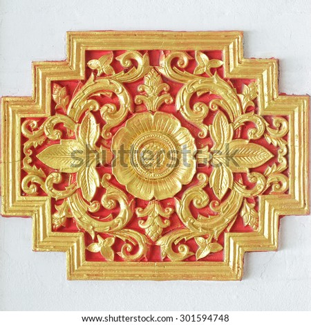 Traditional Thai style pattern decorative in temple,Thailand - stock photo