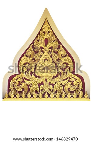 Traditional Thai style pattern on white background