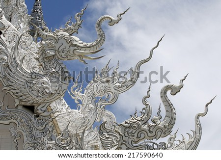 Traditional Thai style stucco texture - stock photo