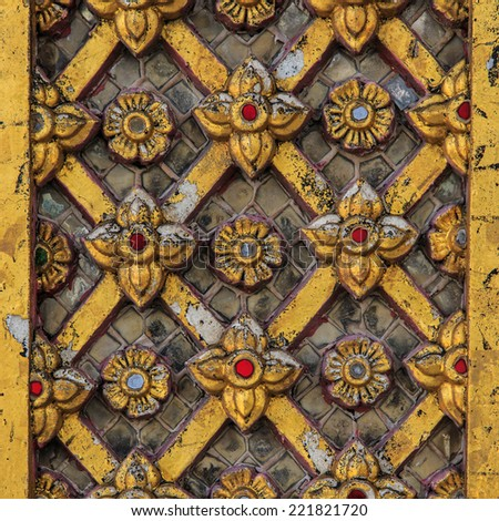 Traditional Thai style stucco texture vintage - stock photo