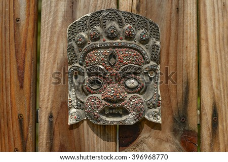 Traditional Thai style with Giant's face