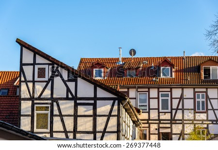 Traditional timbered buildings in Gottingen - Germany, Lower Saxony