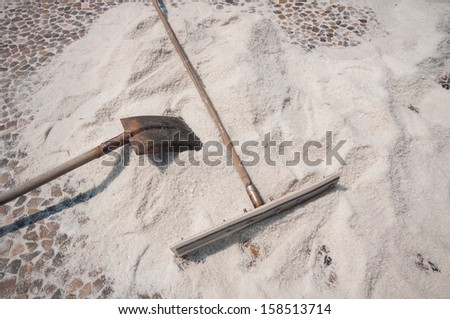 traditional tools for salt farmers