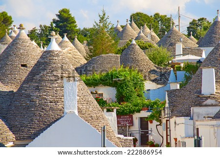 "Traditional ""Trulli"" houses of the Apulia region - stock photo"