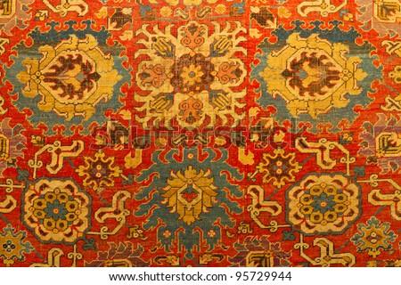Traditional Turkish Carpet - stock photo