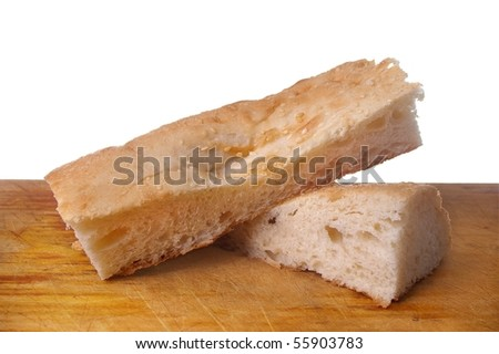 traditional turkish or Armenian lavash bread isolated over white
