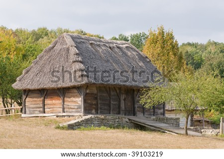 Traditional Ukrainian village hut, stabling