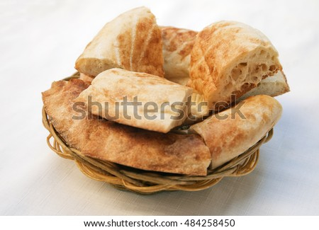 Traditional Uzbek bread lavash