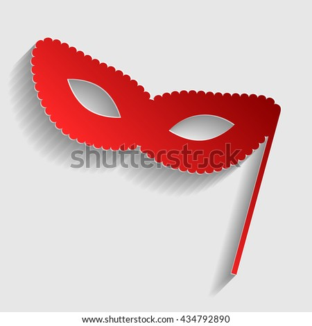 Traditional Venetian Carnival Decorative mask sign