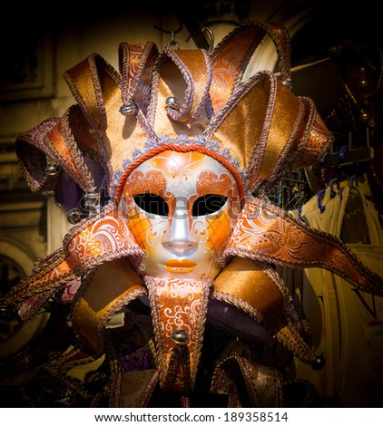 traditional Venice Carnival mask - stock photo