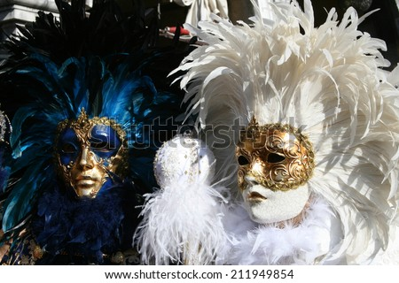 Traditional Venice costumes - stock photo