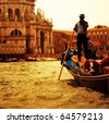 фото: Традиционные Венеции gandola езды