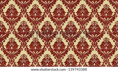 "Traditional Victorian style ""flocked"" wallpaper pattern - stock photo"