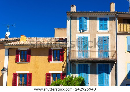 Traditional village houses of Provence region, France, Europe.
