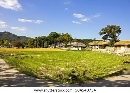 Traditional Village landscape in South Korea