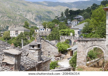 Traditional village of Kalarites at Tzoumerka, Pindus mountains, Epirus, Greece - stock photo
