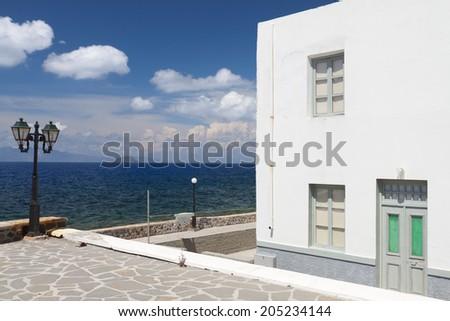 Traditional village of Mandraki at Nisyros island in Greece - stock photo