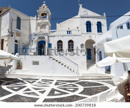 Traditional village of Nikeia at Nisyros island in Greece - stock photo